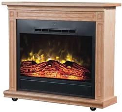 Heat Surge Roll N Glow Ev 4 Portable Electric Fireplace Light Oak